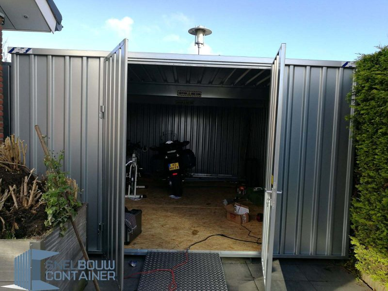 Combinatie container extra ruime stellingcontainer